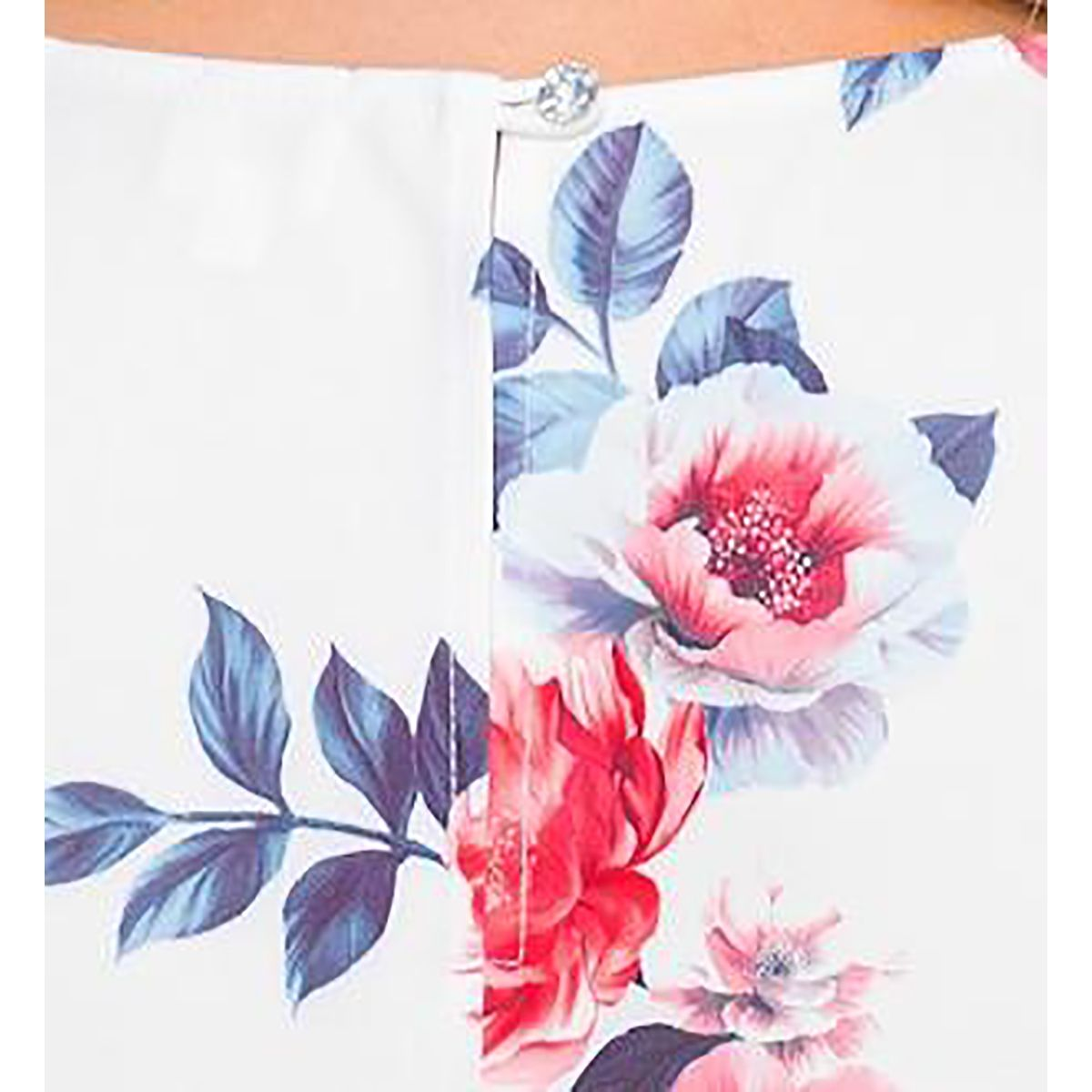 Платье свободное с рукавом реглан, принт цветочный