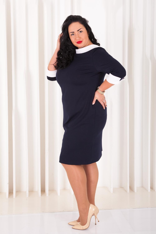 Платье офисное черное